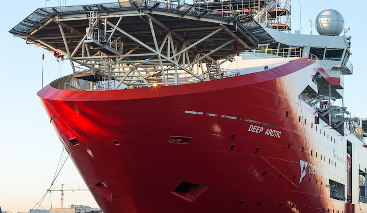 TechnipFMC's diving support vessel Deep Arctic came to the yard primarily for a main class renewal (intermediate) docking and for maintenance including the renewal of the steel plates to her box coolers.