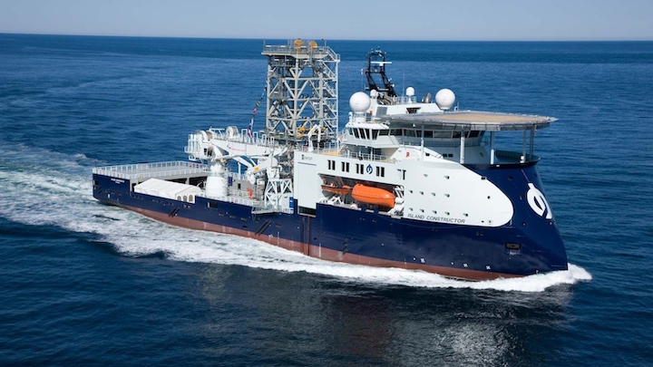 The light well intervention vessel Island Constructor.