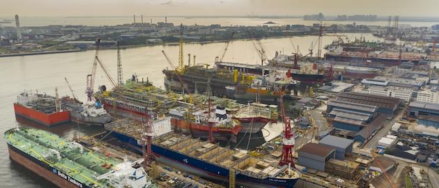 Keppel Shipyard in Singapore.