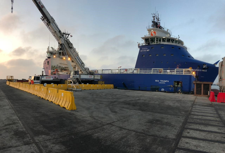 The package includes logistics management for all supply base work at Abu Qir Port and providing the platform support vessel MV Sea Triumph.
