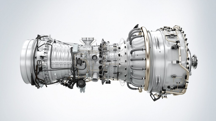 Rendering of SGT-A35 gas turbine core engine.