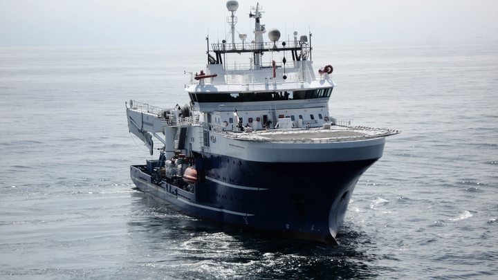 The ROV support vessel Rever Sapphire.