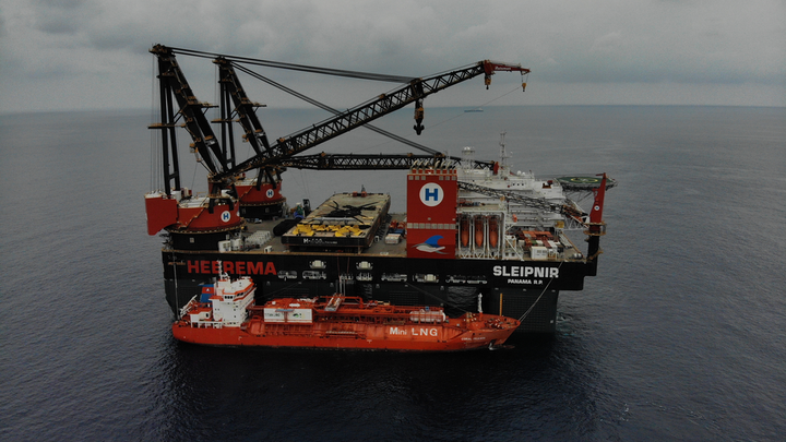 The Coral Fraseri supplied more than 3,000 metric tons of LNG to the Sleipnir.