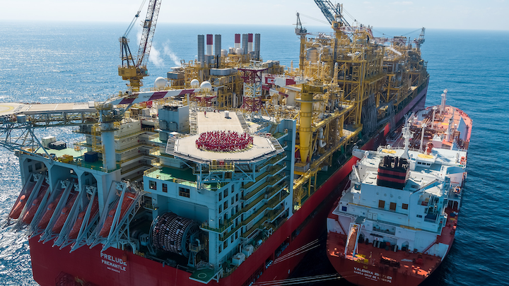 The Valencia Knutsen tanker will deliver the LNG cargo from the Prelude FLNG to clients in Asia.