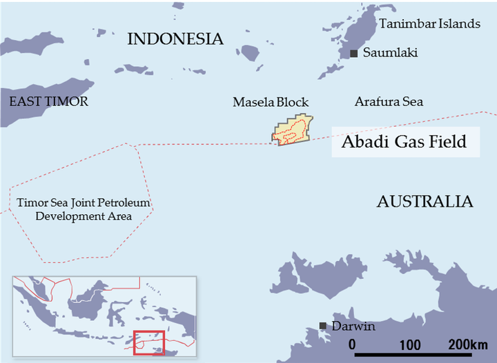 INPEX and partner Shell will develop the giant Abadi field in the Arafura Sea via an offshore production facility and a 9.5 MM metric tons/yr (10.47 MM tons) onshore LNG plant, at a total estimated cost of $20 billion.