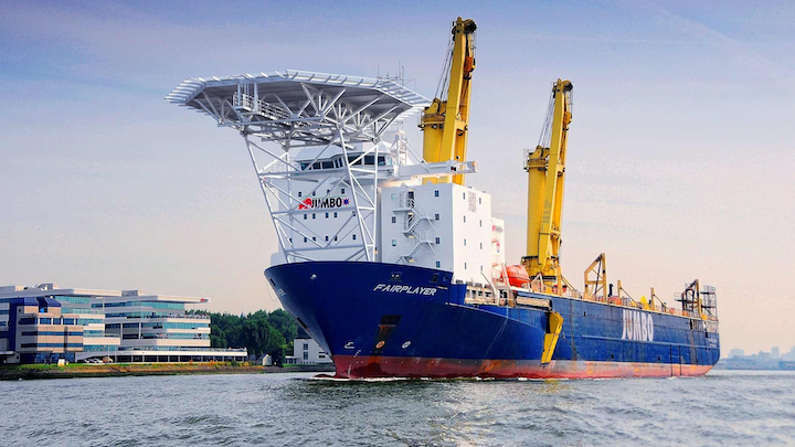 The DP-2 heavy-lift crane vessel Fairplayer completed pre-installation and tensioning of a CALM buoy mooring system for the Mersa El-Hamra terminal in 26 water depth offshore Egypt.