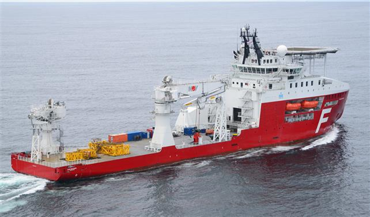 The construction support vessel Far Sentinel operates offshore Mexico.
