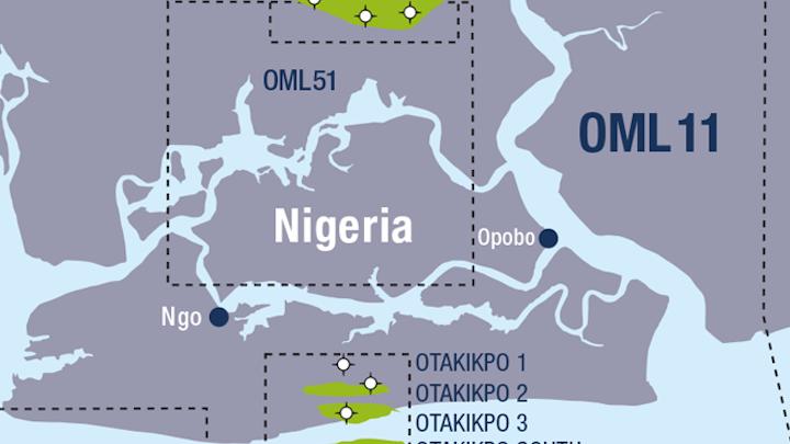 The Otakikpo field is in OML 11 offshore Nigeria.