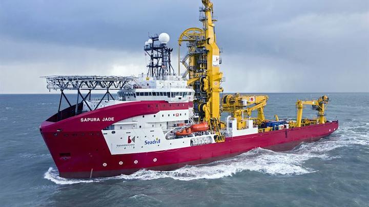 The Sapura Jade is one of Sapura Brazil's six pipelaying support vessels.