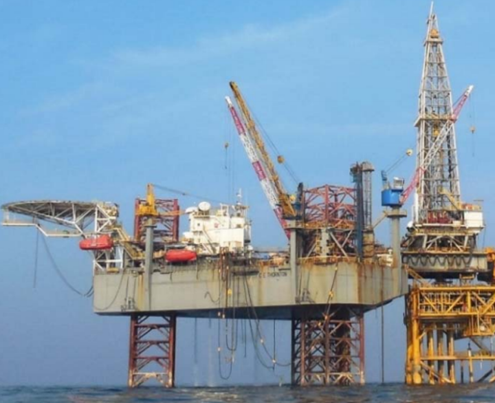 The jackup C.E. Thornton will drill for ONGC in the Mumbai High offshore India.