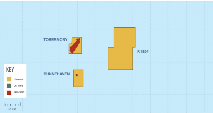 The Lyon exploration well was drilled in license P1854 west of Shetland.