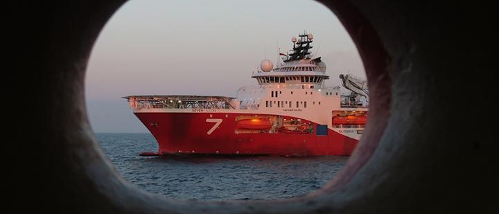 The diving vessel Seven Falcon.