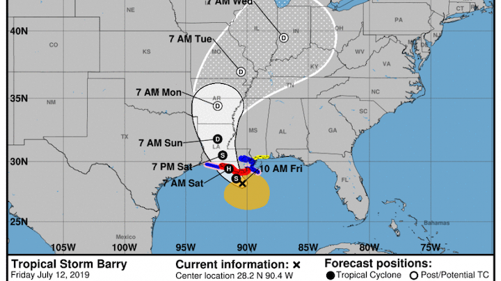 Tropical Storm Barry 07 12 2019