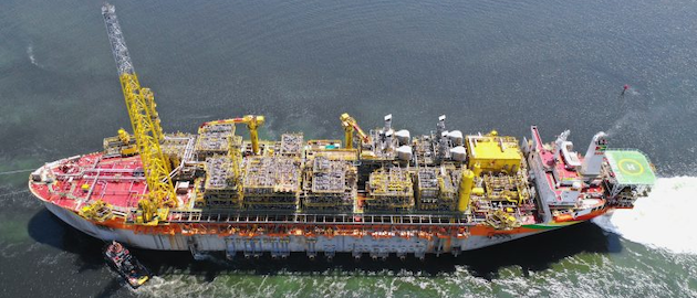 The FPSO Destiny departs from Singapore and is sailing to Guyana.