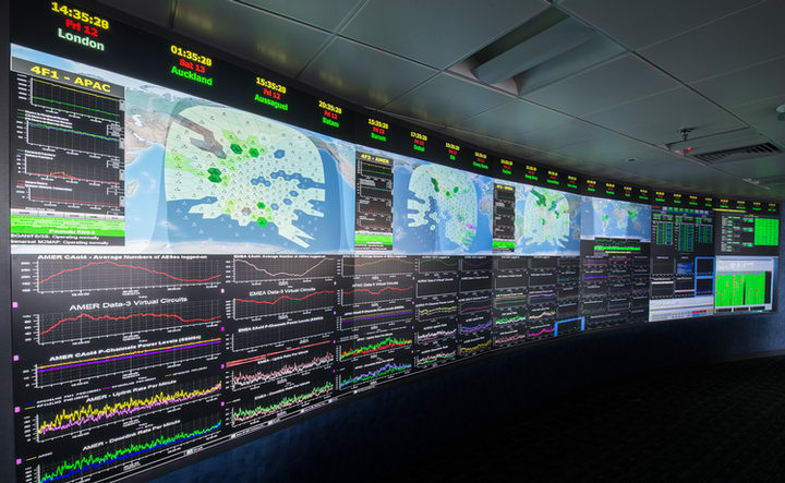 The Inmarsat-Network Ops Centre.