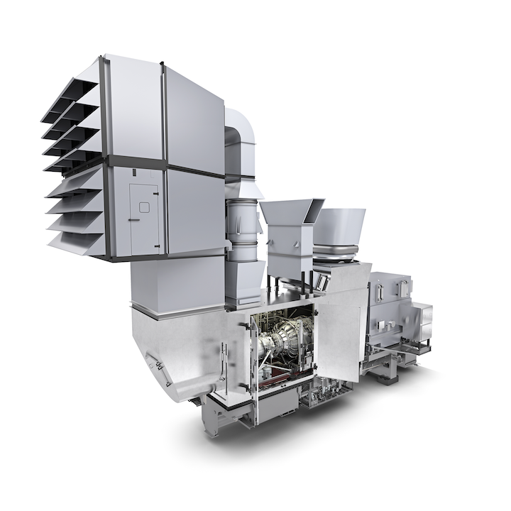 The SGT-A35 gas turbine package is said to deliver substantial weight and cost savings.