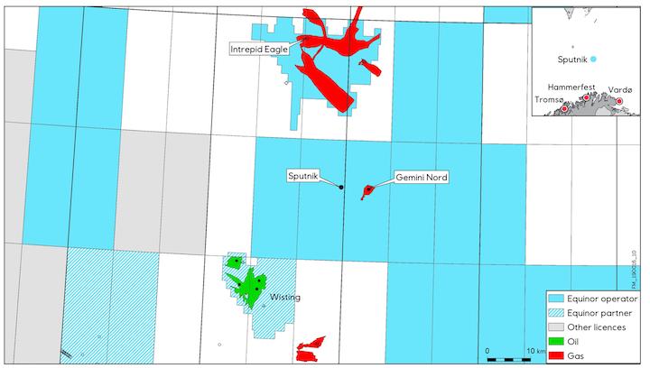 Sputnik is in license PL855 in the Barents Sea.
