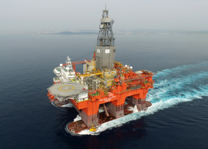 The semisubmersible West Bollsta is working offshore Norway.