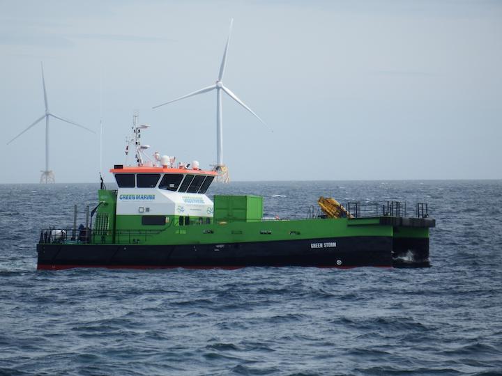 The Green Storm is a Damen-built 2610 Twin Axe vessel.
