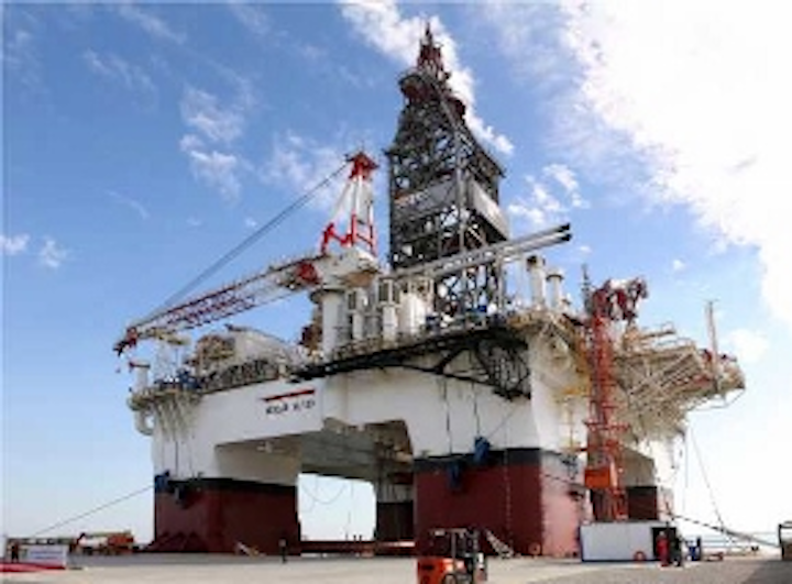 The semisub Heydar Aliyev completed drilling of a first well.