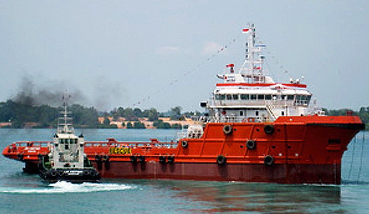 The anchor handling tug supply vessel MMA Chieftain operates offshore Saudi Arabia.