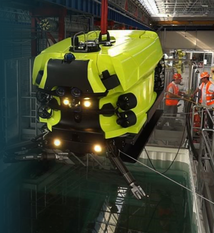 Hydrone-R, the first unit to be launched in the market, is an underwater intervention drone capable of performing light construction works as well as advanced inspections on subsea assets.
