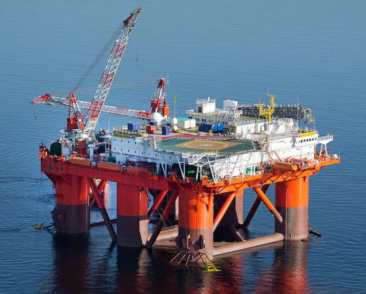 The semisubmersible accommodation vessel Safe Caledonia.