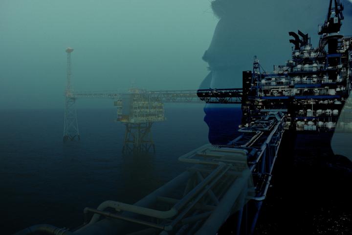 The Sleipner platform in the North Sea.
