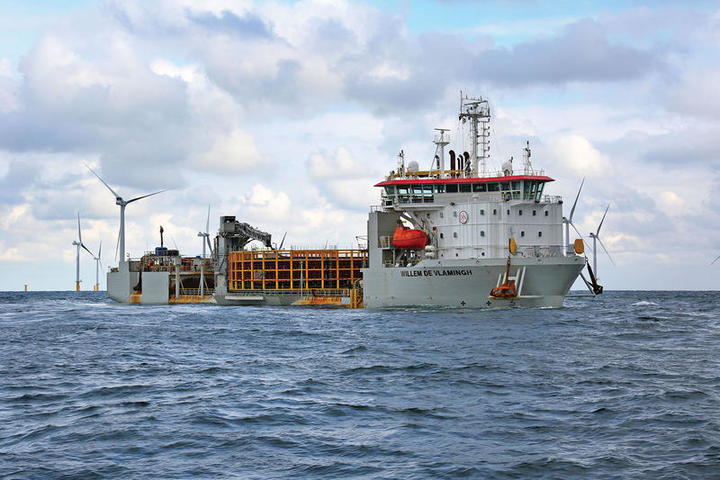 The cable laying vessel Willem de Vlamingh