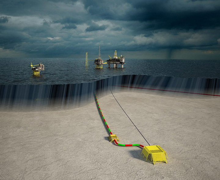 The Utgard field development consists of two wells connected via a subsea template, pipeline and communications cable to the Sleipner T process platform in the North Sea.