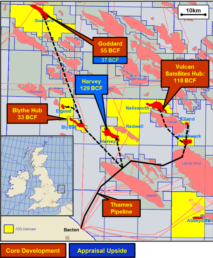 Core Project Phase 1 in the UK southern North Sea