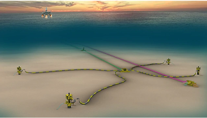 The first phase of the Kaikias project includes four wells tied back using one flowline to the Ursa TLP.