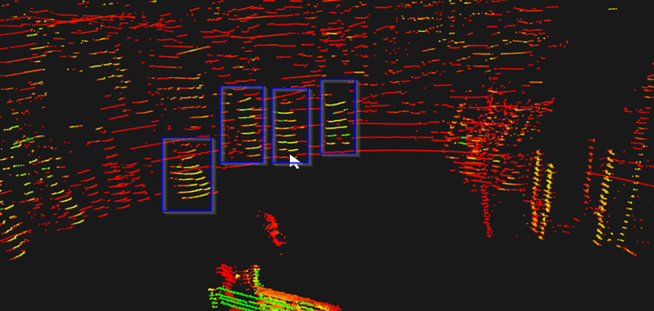 LIDAR identifying people within the Red Zone.