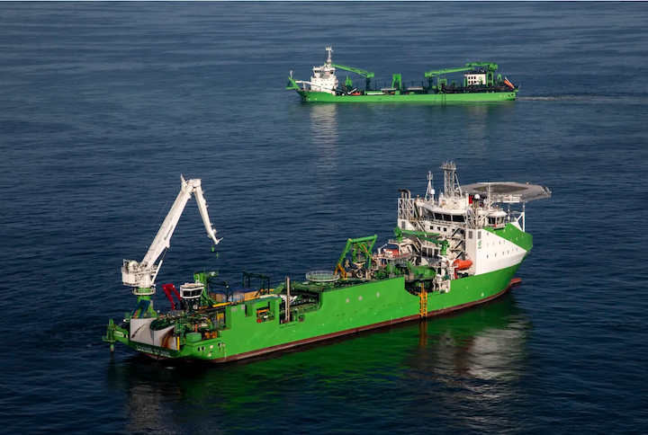 The company deployed the Living Stone and Bonny River for Elia's modular offshore grid project offshore Belgium.