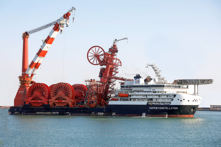 The Saipem Constellation is an ultra-deepwater rigid and flexible pipelay, heavy lift, and construction DP-3 vessel.