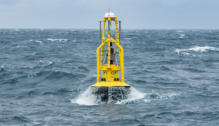 The PB3 PowerBuoy at Premier Oil's Huntington field in the UK central North Sea.