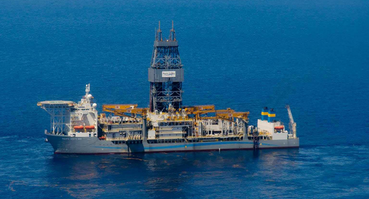The ultra-deepwater drillship Pacific Santa Ana