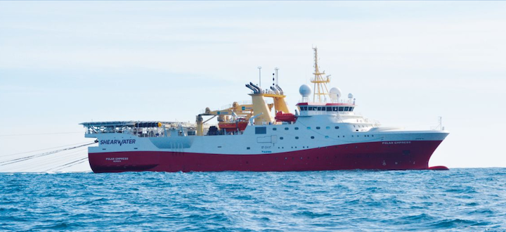 The Polar Empress conducted the 420-sq km (162-sq mi) broadband 3D seismic survey over the Pensacola prospect on license P2252 in the southern North Sea.