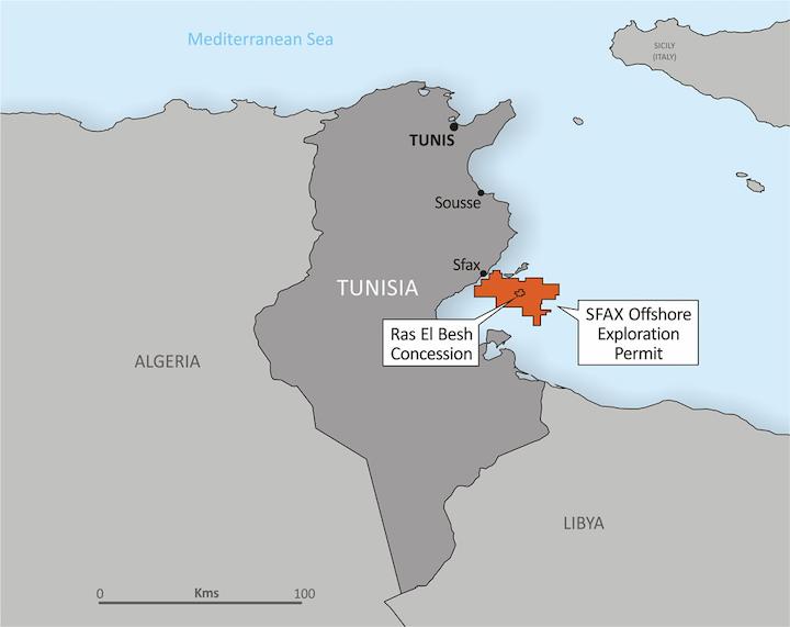 The Salloum West oil prospect is on Tunisia's Sfax Offshore exploration permit.