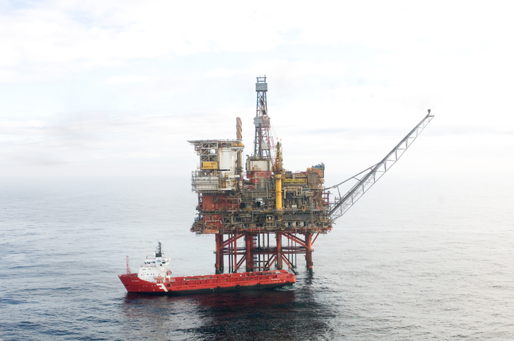 The Beryl Bravo platform in the UK northern North Sea.