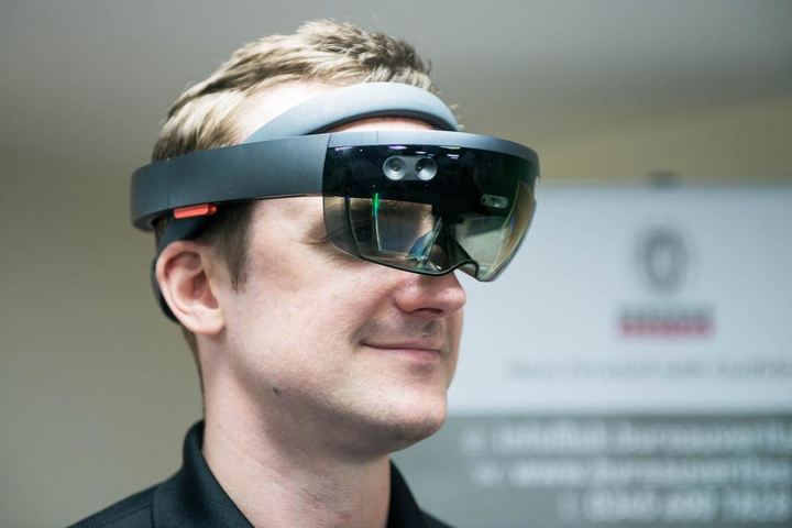 HoloLens is Microsoft mixed-reality smart glasses that deliver an augmented reality hologram that allows inspectors to view parts, understand inspection requirements, and digitally splice the asset to view cross-sections.