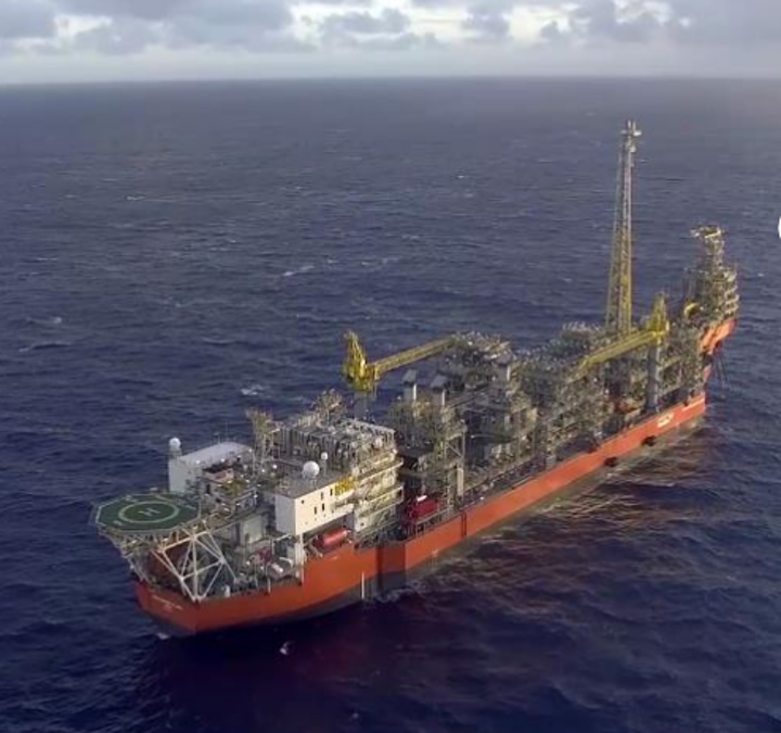 The FPSO Pioneiro de Libra is producing oil under an extended test on the Mero field in the deepwater Libra block in the Santos basin.