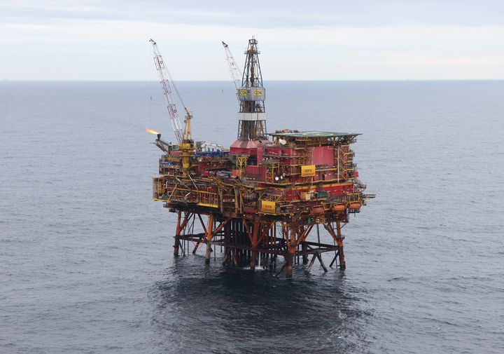 The North Cormorant platform in the UK North Sea.