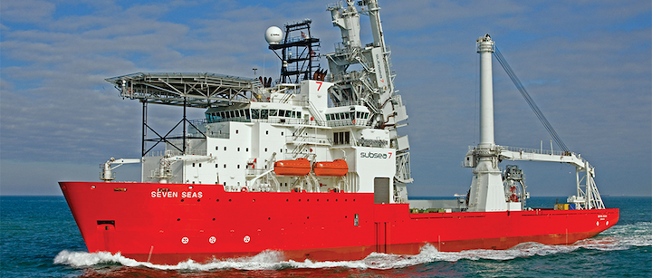 The Seven Seas is a construction/flex-lay vessel capable of operating in water depths up to 3,000 m.