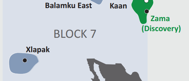 Block 7 is in the Sureste basin offshore Mexico.