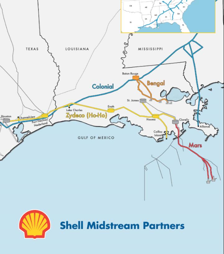 Shell Mulls Mars Crude Oil Pipeline
