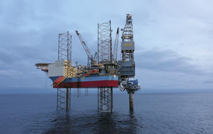 Yme oljefelt i det norske Nordsjøen.